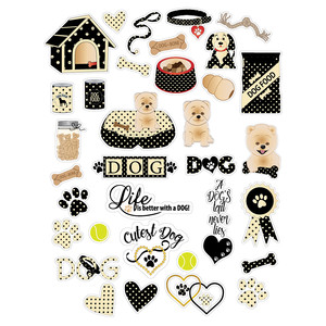 dog-theme planner stickers