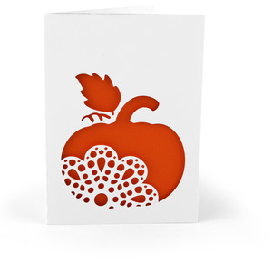 5x7 card ornate pumpkin