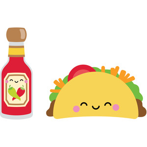 taco and taco sauce - so much pun