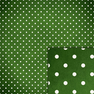christmas green polka dot background paper