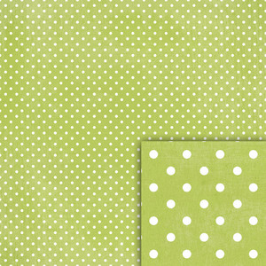 lime green polka dot background paper