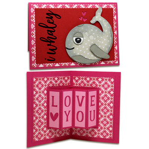 whaley love you fancy fold card