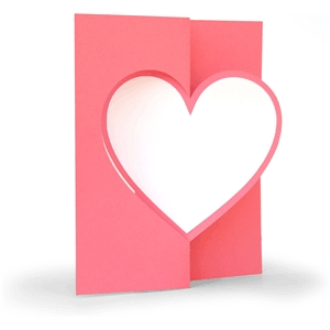 3d flip swing card heart