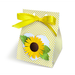 milk carton gift box with 3d sunflower