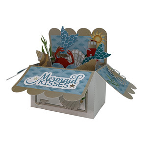 mermaid pop up card in a box