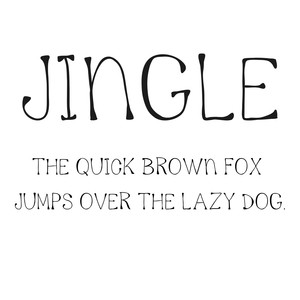 cg jingle font