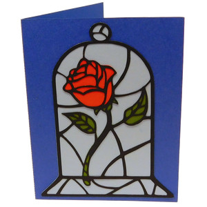 fairytale rose card