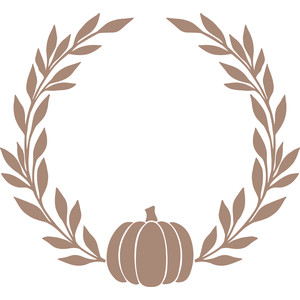 pumpkin laurel wreath
