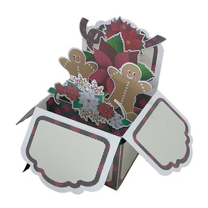5x7 poinsettia pop up card in a box
