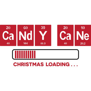 periodic table candy cane christmas loading