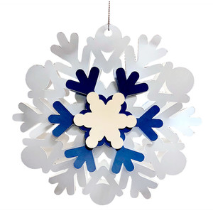 3d classic snowflake