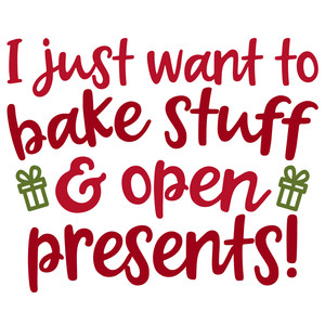 bake stuff open presents