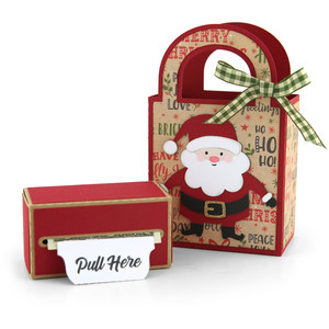 money roll gift bag set santa