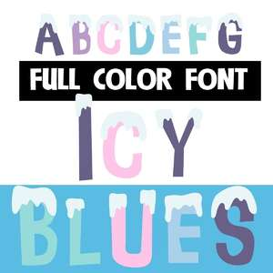 icy blues color font