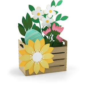 box card easter flower crate