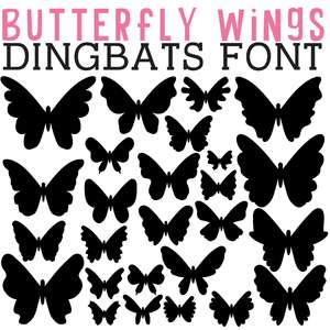 cg butterfly wings dingbats