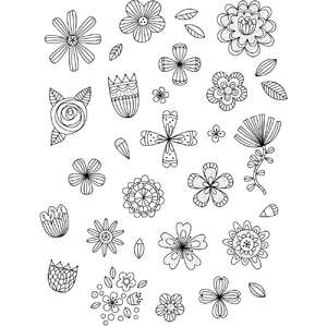 wildflower coloring stickers