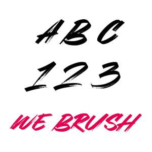 we brush font