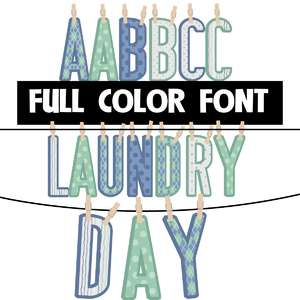 laundry day color font