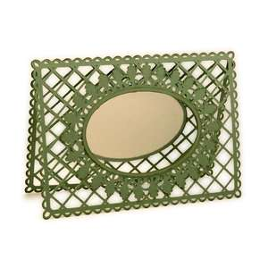 frame venice lace oval card