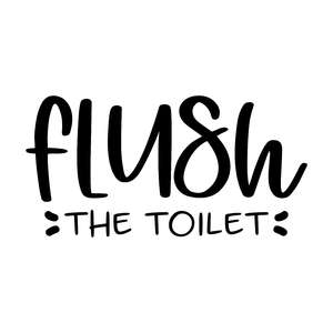 flush the toilet