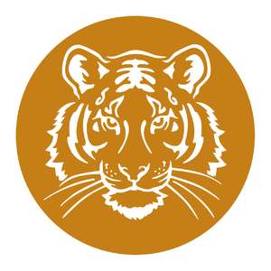 tiger face in circle