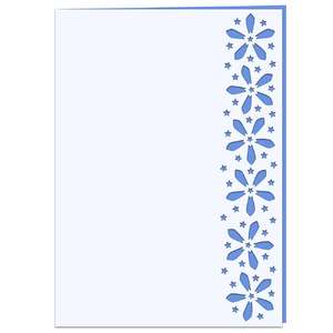 star flower lace edged card