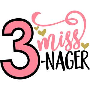 miss three nager 3rd birthday girl