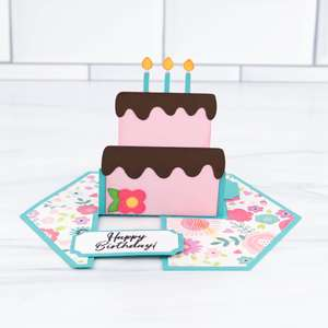impossible card birthday cake
