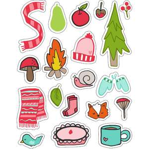 ml autumn fires stickers