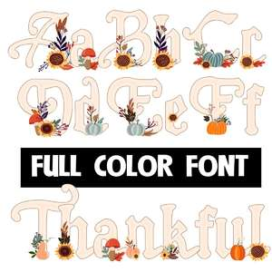 thankful color font