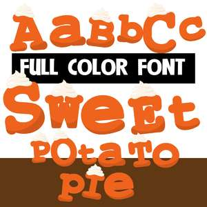 sweet potato pie color font