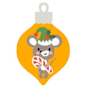 christmas ornament with mouse