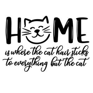 home is where the cat hair sticks