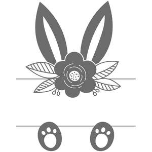 flower bunny ear split frame
