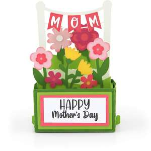 rectangle pop up card birthday mother's day