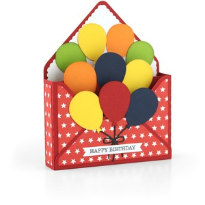 box card envelope balloons