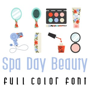 spa day - beauty full color font