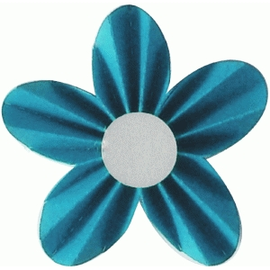 3d accordion pleated flower