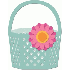 lattice flower basket