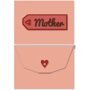 heart ribbon companion envelope for mother's day card