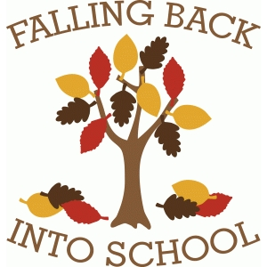 'falling back into school' tree & phrase