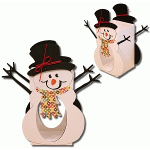 3d snowman window box