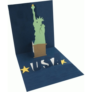 statue of liberty pop up card