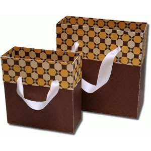 3d fold over gift bags