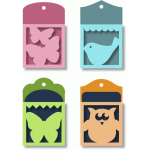 pocket tags - birds & butterflies
