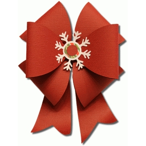 3d snowflake gift bow