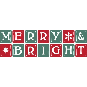 vintage block letters – merry & bright