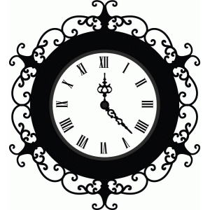 flourish clock