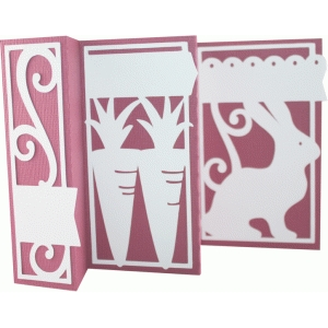 accordion fold card - easter bunny
